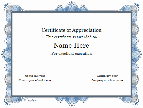 Microsoft Word Certificate Template Fresh Word Certificate Template 49 Free Download Samples