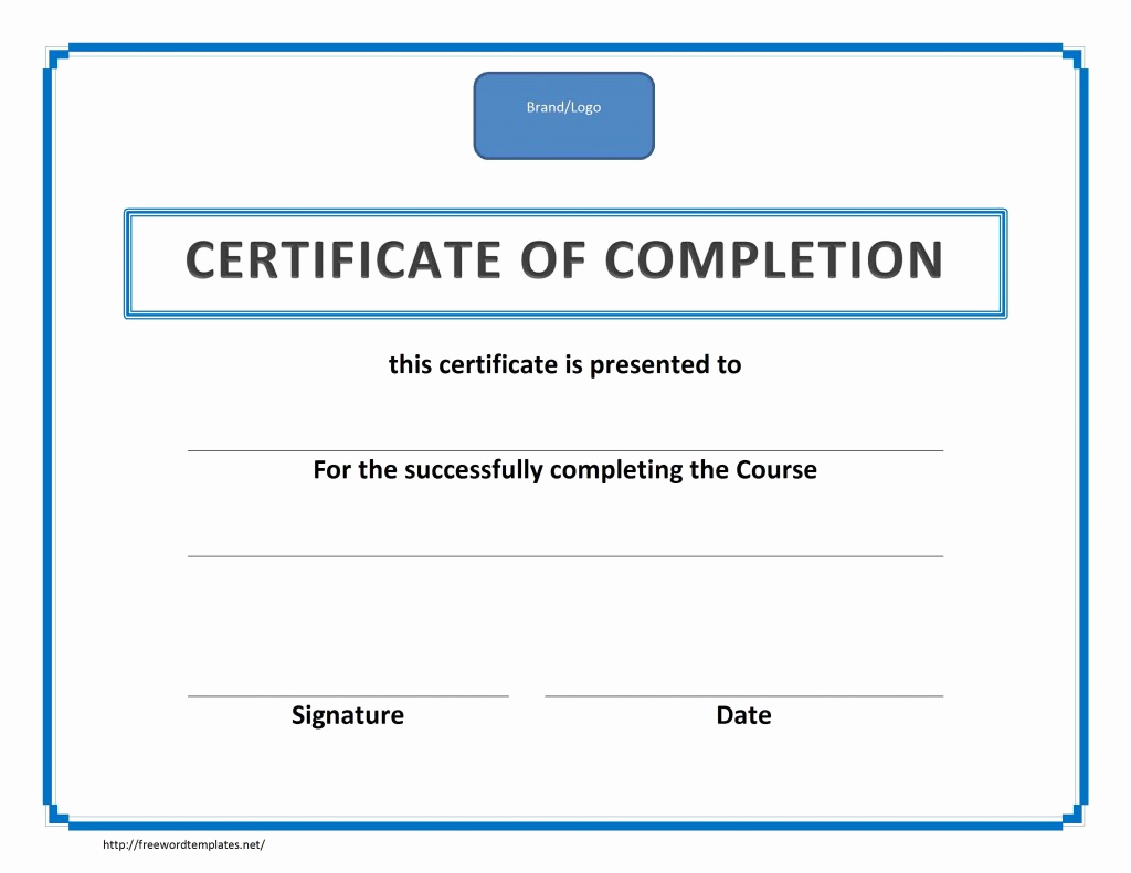 Microsoft Word Certificate Template Lovely Training Certificate Of Pletion