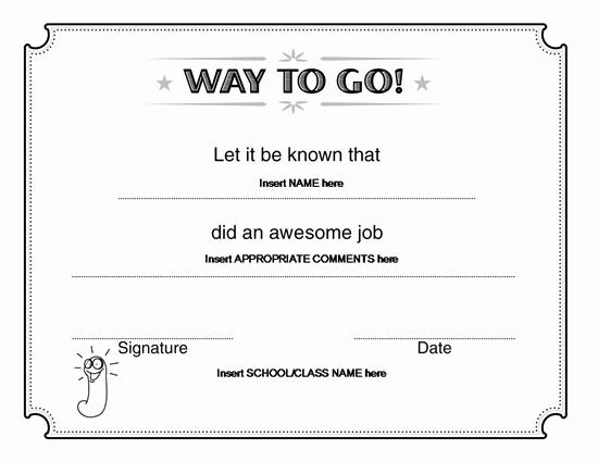 Microsoft Word Certificate Template Unique Way to Go Award Certificate – Microsoft Word
