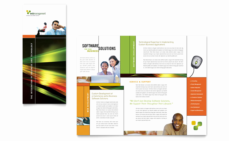 Microsoft Word Flyer Template Best Of Internet software Brochure Template Word & Publisher