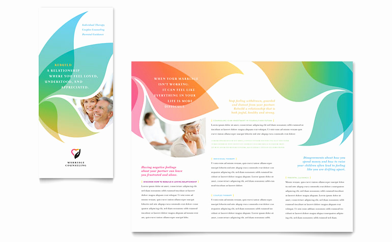 Microsoft Word Flyer Template Fresh Marriage Counseling Tri Fold Brochure Template Word