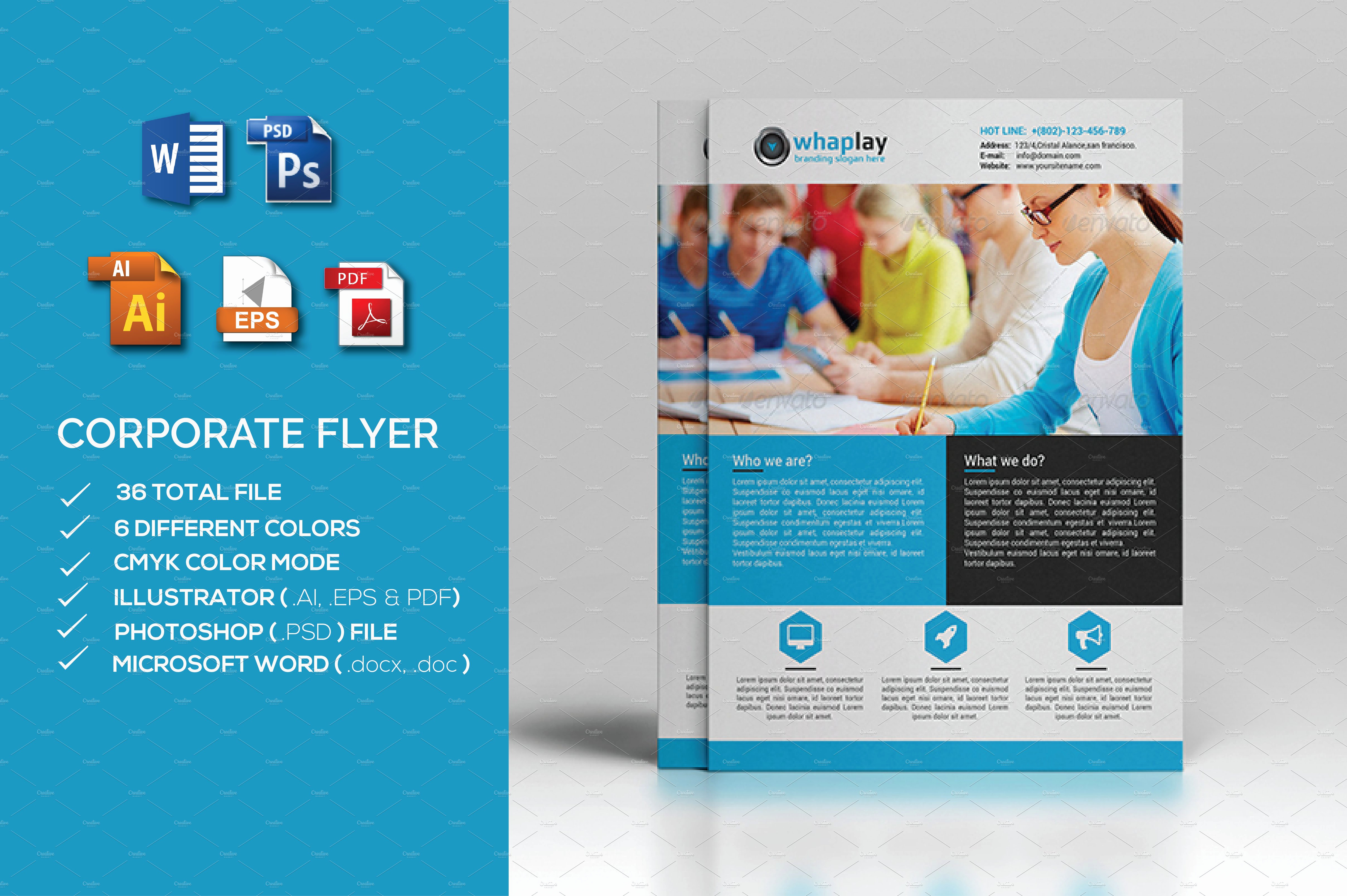 Microsoft Word Flyer Template Lovely Corporate Flyer Ms Word Flyer Templates Creative Market