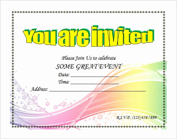 Microsoft Word Invitation Template Awesome 69 Microsoft Invitation Templates Word