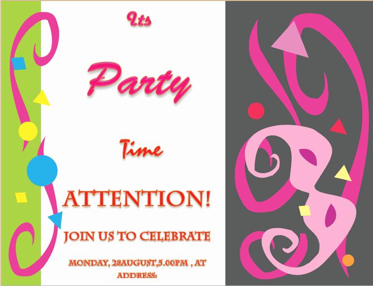Microsoft Word Invitation Template Beautiful Party Invitation Template Invite Your Friends In Style