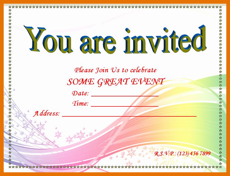 Microsoft Word Invitation Template Inspirational 4 5 Free Invitation Templates for Word