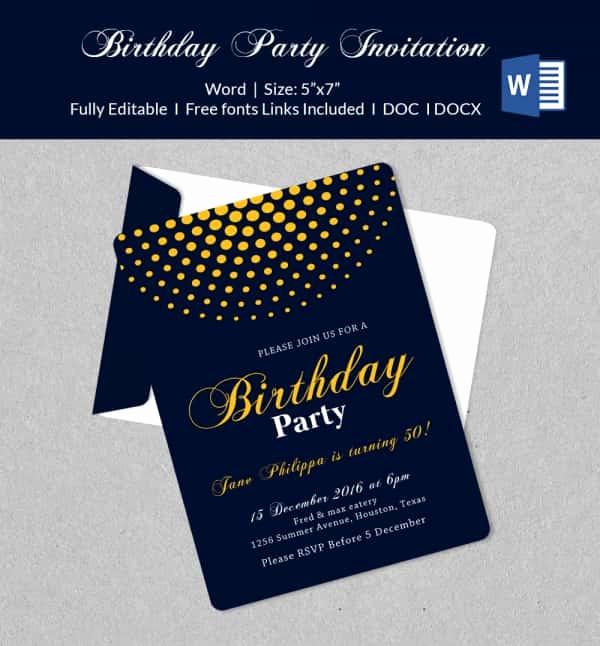 Microsoft Word Invitation Template Inspirational 50 Microsoft Invitation Templates Free Samples
