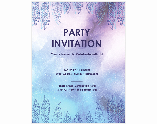 Microsoft Word Invitation Template Lovely 13 Free Templates for Creating event Invitations In