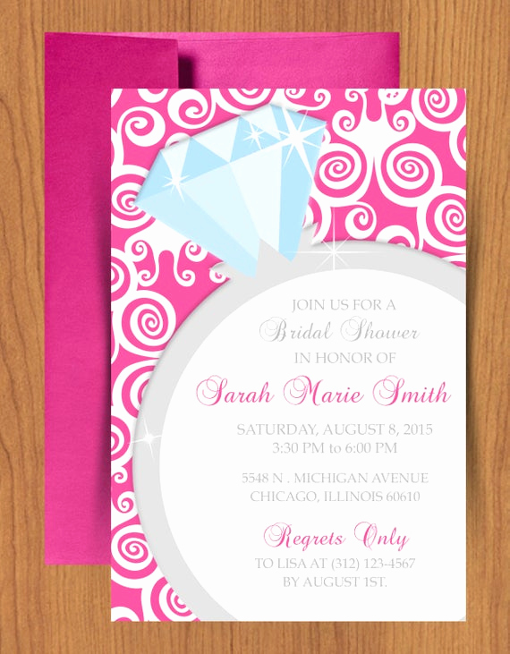 Microsoft Word Invitation Template Lovely Diy Ring Bridal Shower Invitation Editable Template