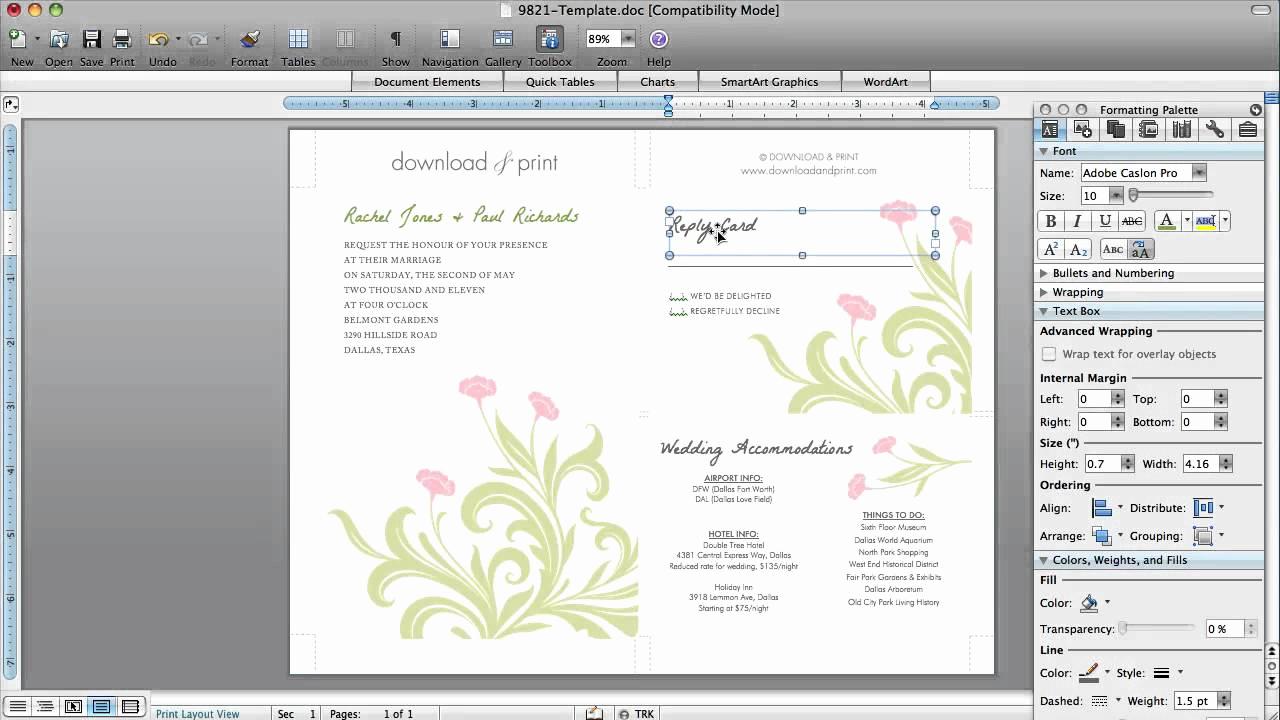 Microsoft Word Invitations Templates Elegant How to Make Wedding Invitations In Microsoft Word