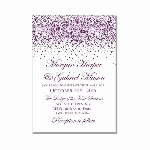 printable wedding invitation purple wedding purple sparkles diy wedding invitations instant microsoft word