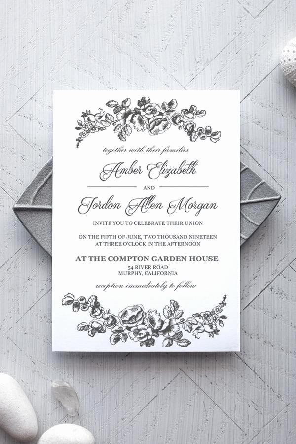 Microsoft Word Invitations Templates Lovely Printable Wedding Invitation Template Rustic Alchemie