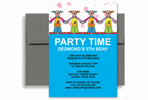 Microsoft Word Invitations Templates Unique Circus Clown Party Microsoft Word Birthday