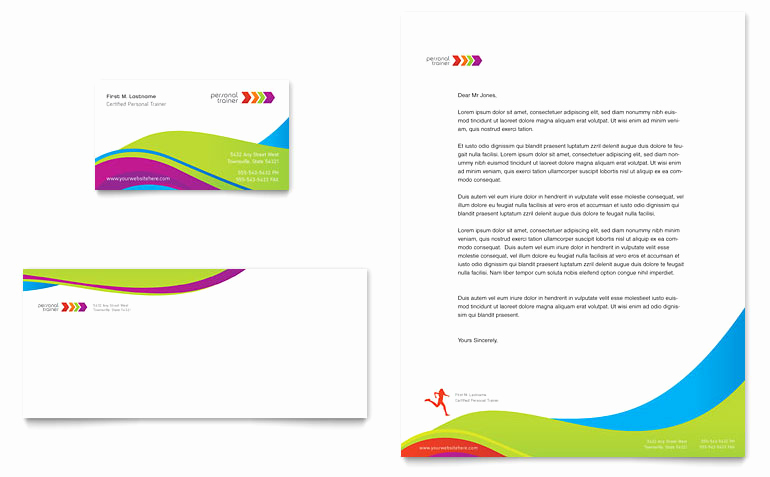 Microsoft Word Letter Template Elegant Personal Trainer Business Card & Letterhead Template