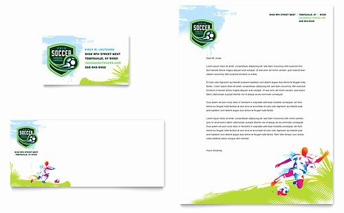 Microsoft Word Letter Template Inspirational Youth soccer Tri Fold Brochure Template Design