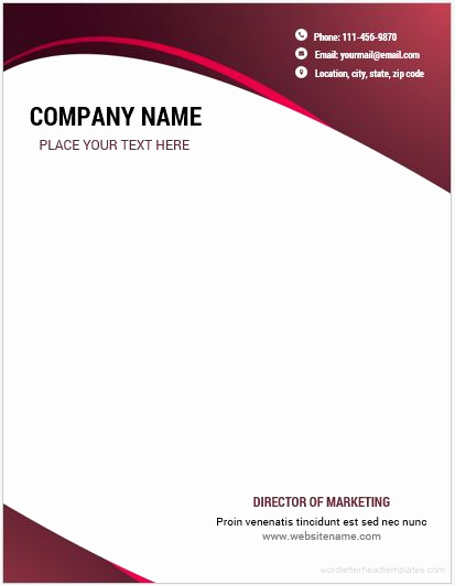 Microsoft Word Letter Template Luxury 10 Best Letterhead Templates Word 2007 format