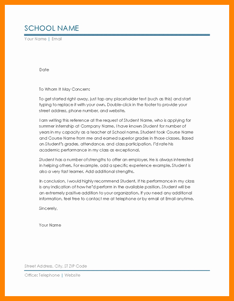5 microsoft office letter of re mendation template