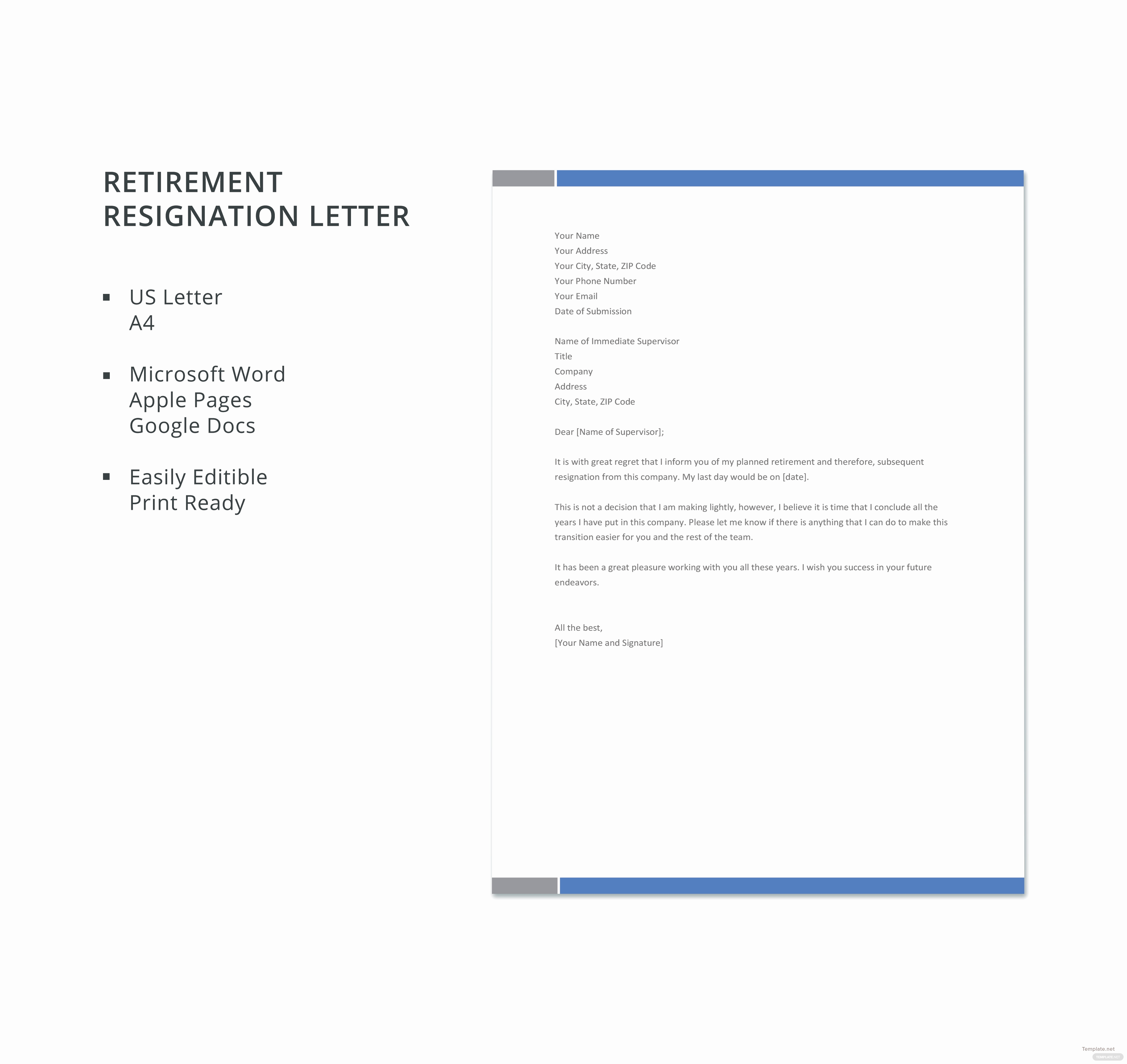 Microsoft Word Letter Template Unique Free Retirement Resignation Letter Template In Microsoft
