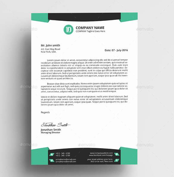 Microsoft Word Letterhead Templates Awesome 30 Professional Letterhead Templates Free Word Psd Ai
