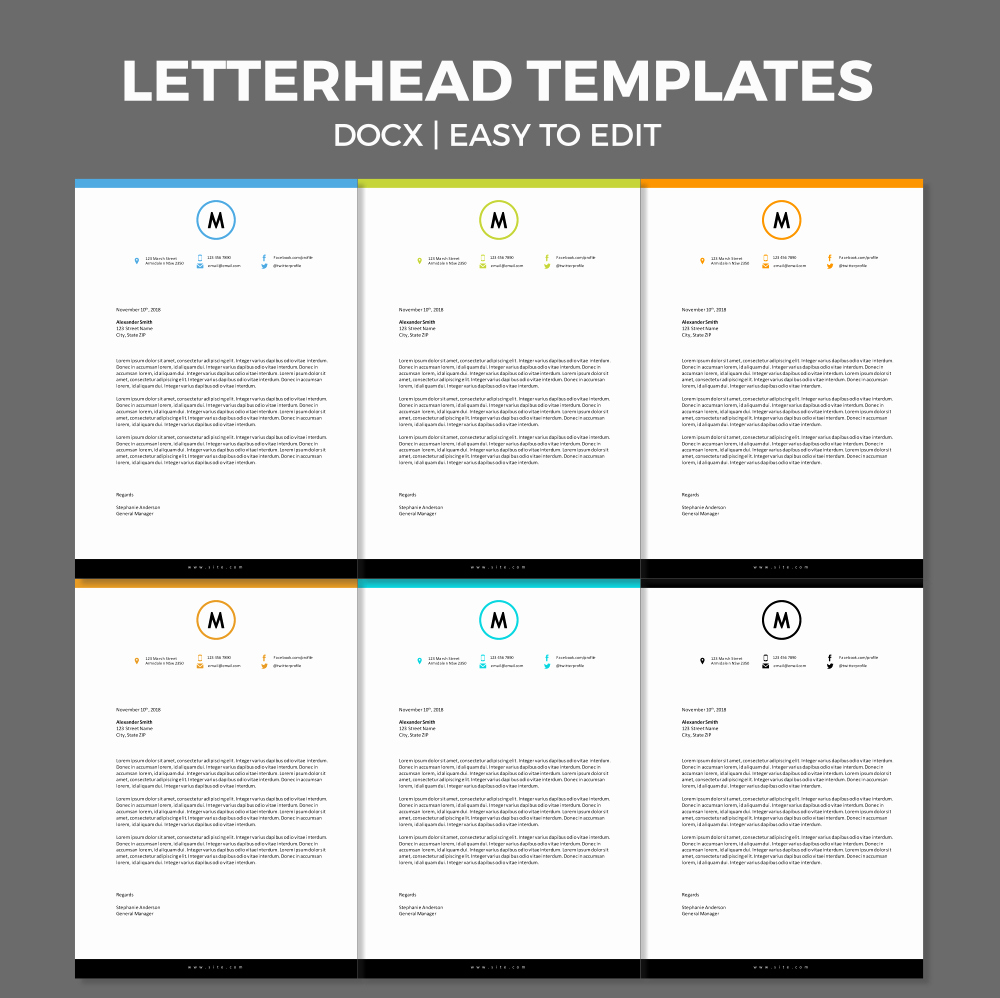 Microsoft Word Letterhead Templates Awesome Free Modern Letterhead Template for Ms Word