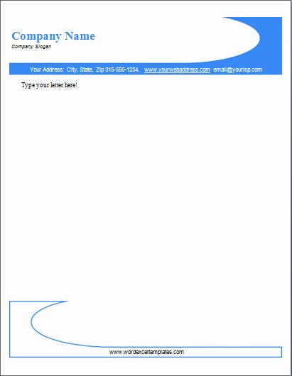Microsoft Word Letterhead Templates Beautiful Pany Letterhead format In Word format