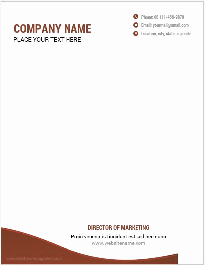 Microsoft Word Letterhead Templates Fresh 10 Best Letterhead Templates Word 2007 format