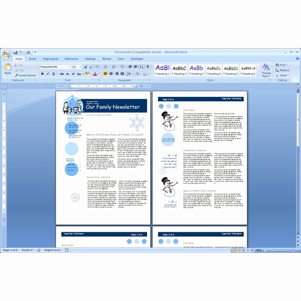 Microsoft Word Newsletter Templates Best Of Download the top Free Microsoft Word Templates Newsletters