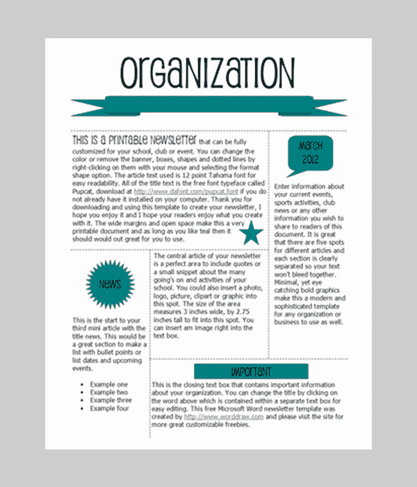 Microsoft Word Newsletter Templates Best Of Word Newsletter Template – 31 Free Printable Microsoft