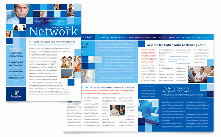 Microsoft Word Newsletter Templates Elegant Technology Consulting & It Newsletter Template Word