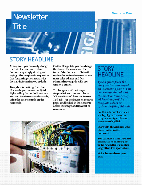 Microsoft Word Newsletter Templates New Newsletters Fice