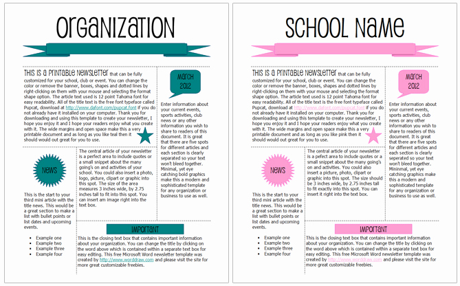 Microsoft Word Newsletter Templates Unique 5 Newsletter Word Templates Excel Pdf formats