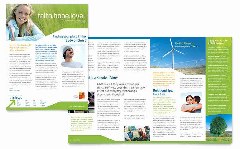 Microsoft Word Newsletter Templates Unique Church Youth Ministry Newsletter Template Word & Publisher