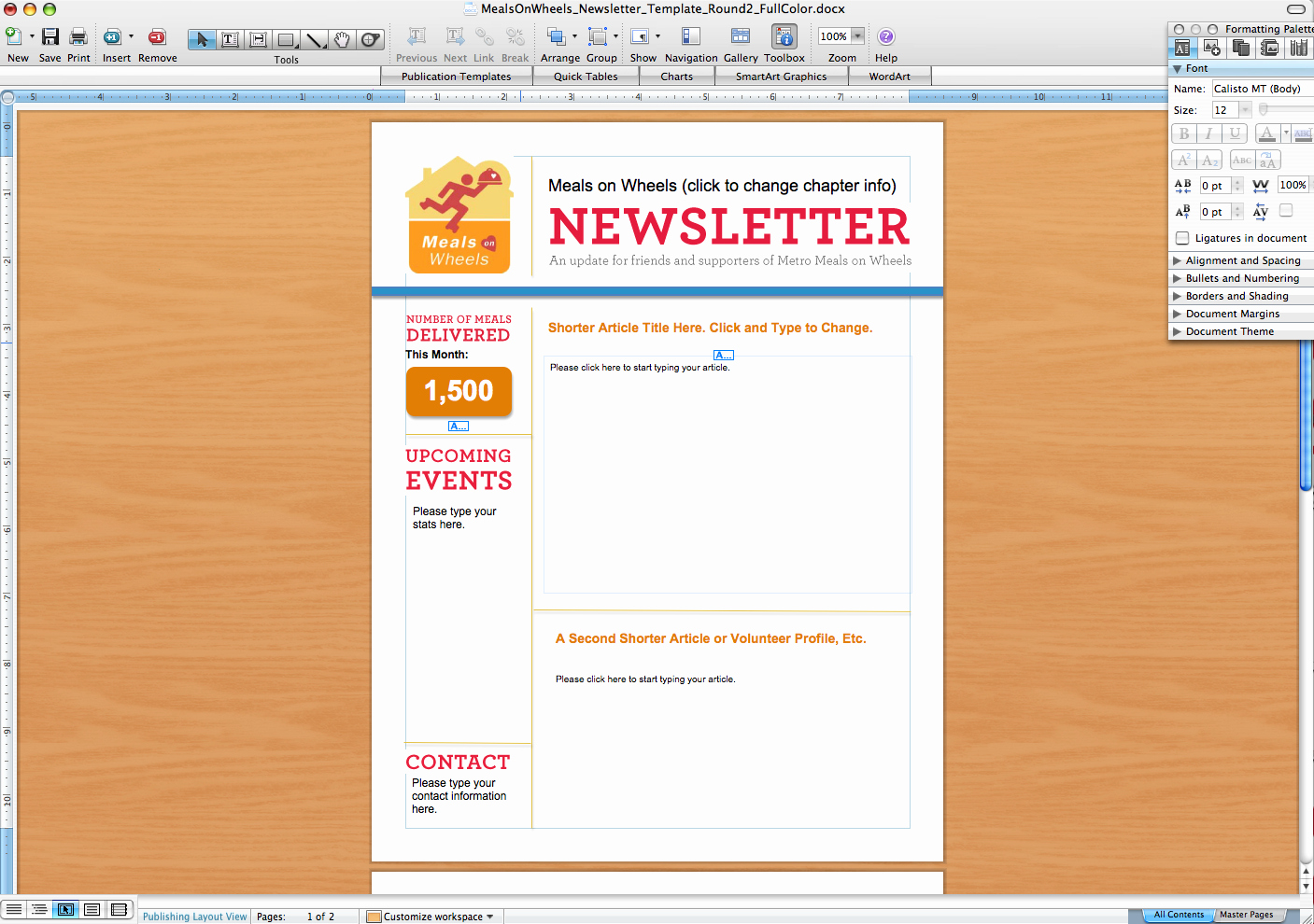Microsoft Word Newsletter Templates Unique Microsoft Word Newsletter Templates