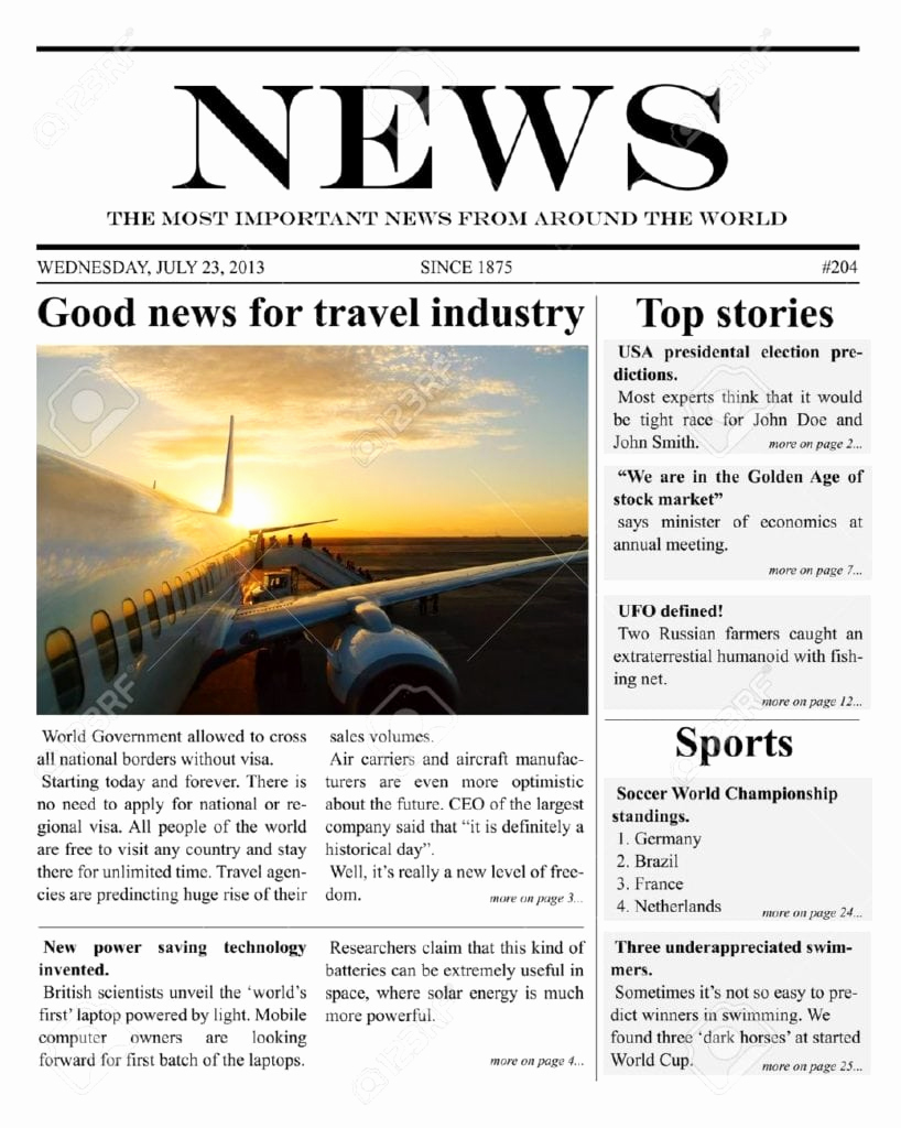 Microsoft Word Newspaper Template Awesome 9 Newspaper Templates Word Excel Pdf formats