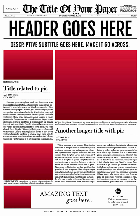 Microsoft Word Newspaper Template Beautiful Free Newspaper Template