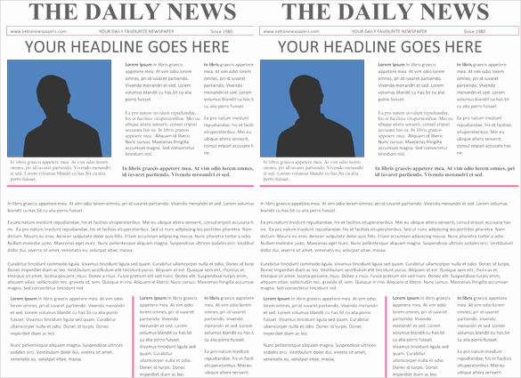 Microsoft Word Newspaper Template Beautiful Newspaper Headline Template 12 Free Word Ppt Psd Eps