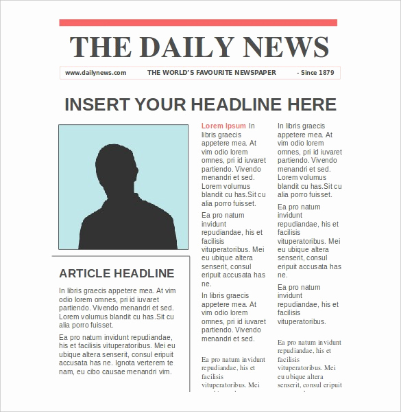Microsoft Word Newspaper Template Elegant Newspaper Article Template
