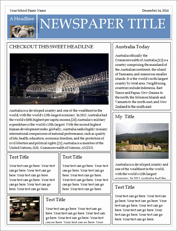 Microsoft Word Newspaper Template Inspirational 53 Amazing Newspaper Templates Pdf Ppt Word Psd