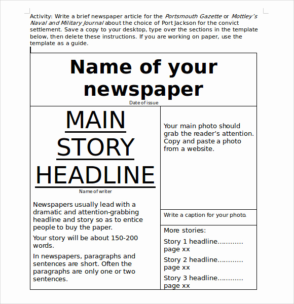 Microsoft Word Newspaper Template Inspirational 8 Sample Microsoft Newsletters