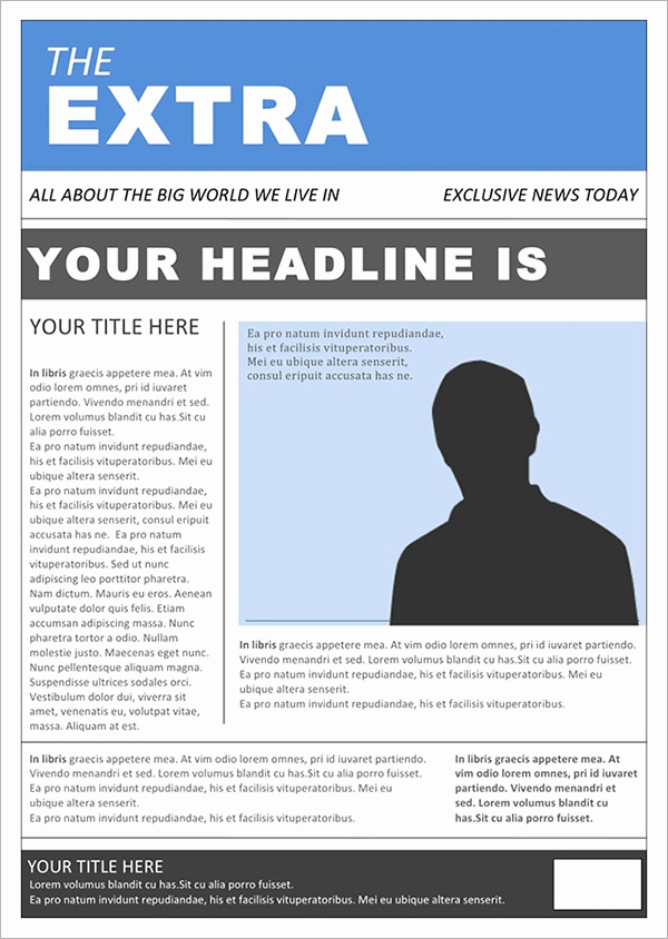 Microsoft Word Newspaper Template New 53 Amazing Newspaper Templates Pdf Ppt Word Psd