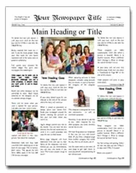 Microsoft Word Newspaper Template Unique 9 Newspaper Templates Word Excel Pdf formats