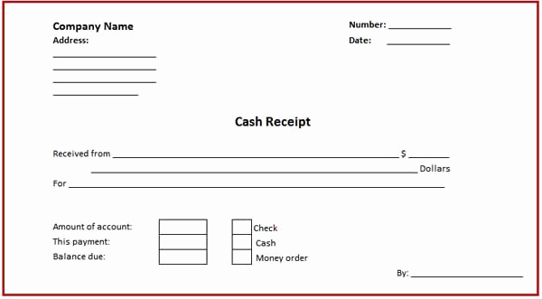 Microsoft Word Receipt Template Best Of Business Cash Receipt Template is Created In format that