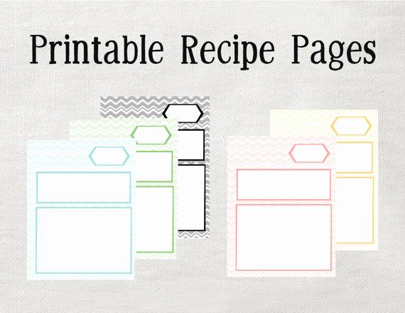 Microsoft Word Recipe Template Elegant Printable Recipe Binder Pages Microsoft Word Editable