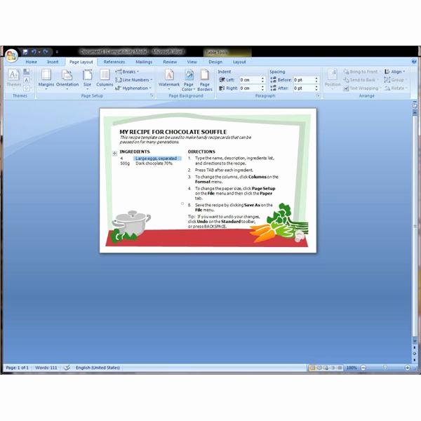 Microsoft Word Recipe Template Inspirational Microsoft Word Recipe Template Help Find and Download