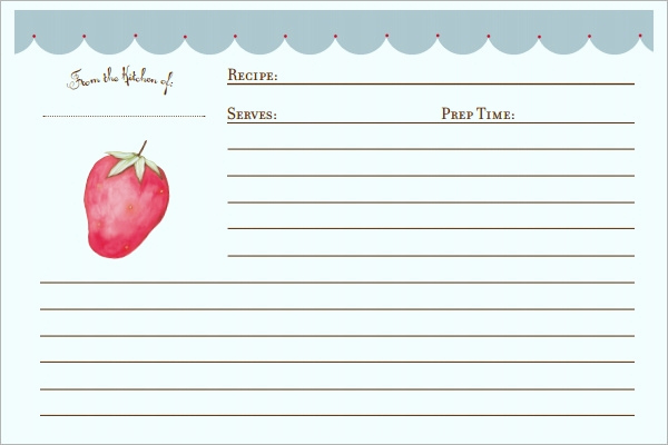 Microsoft Word Recipe Template Luxury Sample Recipe Card Template 6 Free Documents Download