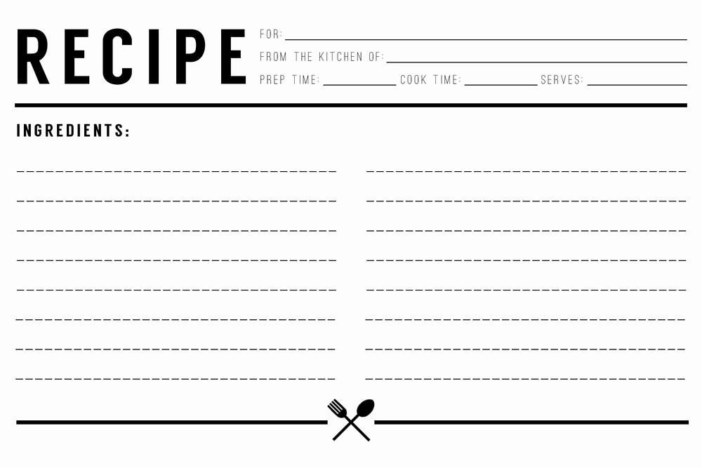 Microsoft Word Recipe Template Unique 13 Recipe Card Templates Excel Pdf formats