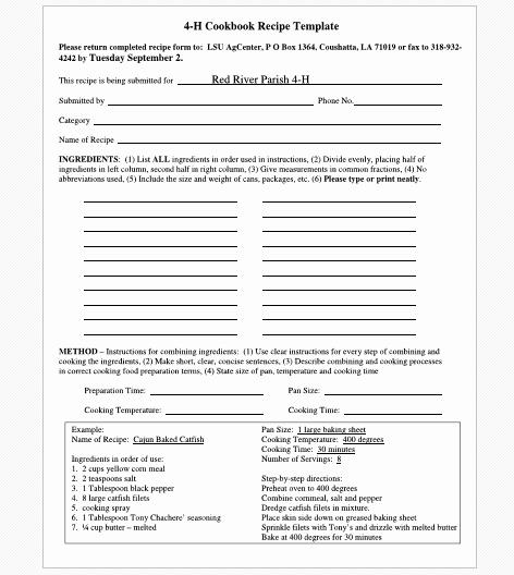 Microsoft Word Recipe Template Unique Cookbook Templates Create Your Own Recipe Book Word Pdf