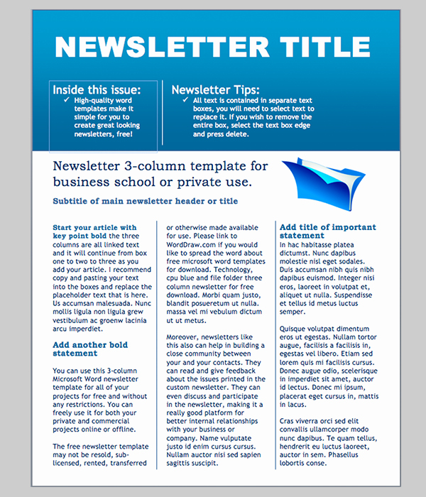 Microsoft Word Template Downloads Awesome Word Newsletter Template – 31 Free Printable Microsoft