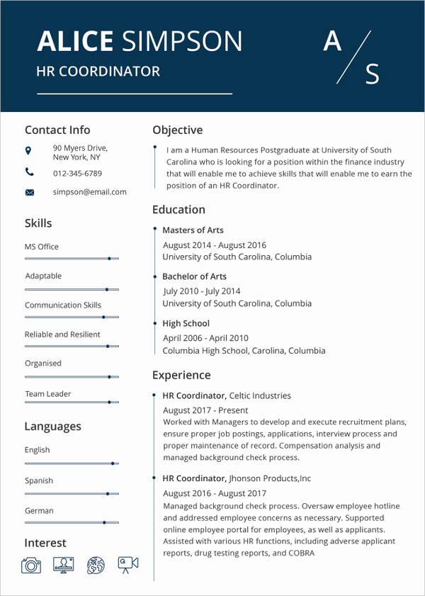 Microsoft Word Template Downloads Unique Microsoft Word Resume Template 49 Free Samples