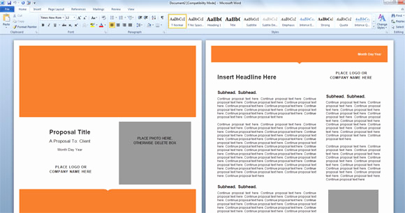 Microsoft Word Template Downloads Unique Modern Proposal Template for Microsoft Word