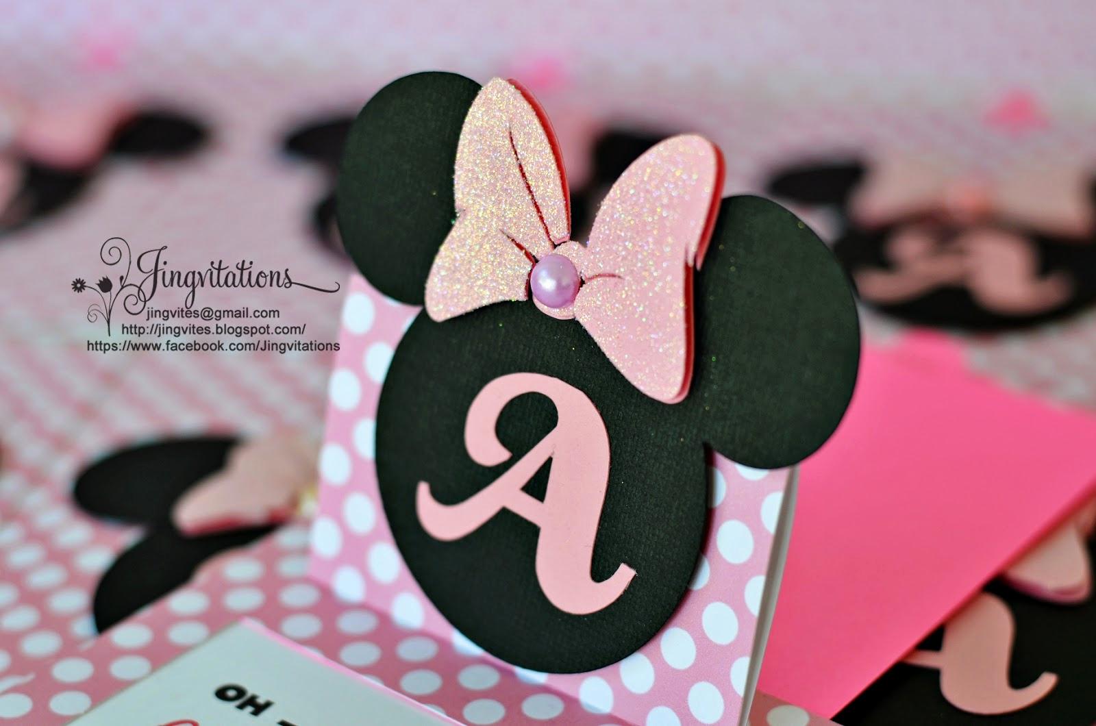 Minnie Mouse Birthday Invitations Beautiful Jingvitations Cricut Handmade Minnie Mouse Pop Up Invitations